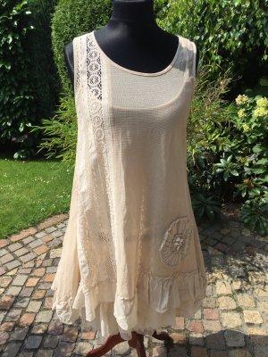 Cream Kleid mit Unterrock Gr.40