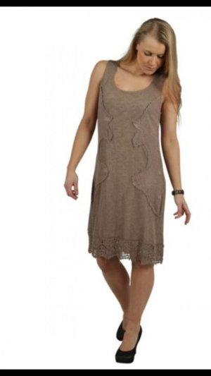 Cream Mini Dress light brown-brown