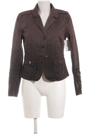 Cream Kurz-Blazer grauviolett-schwarz Farbverlauf Street-Fashion-Look