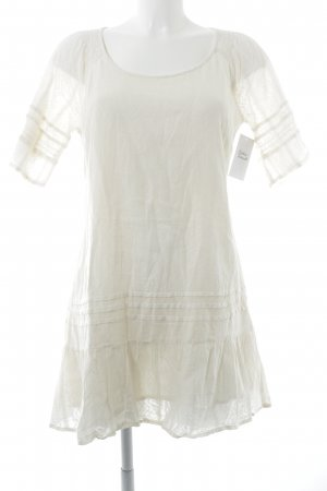 Cream Kurzarmkleid creme Casual-Look