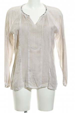 Cream Langarm-Bluse altrosa Casual-Look