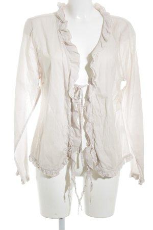 Cream Langarm-Bluse altrosa schlichter Stil