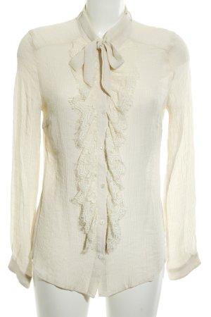 Cream Langarm-Bluse creme Casual-Look