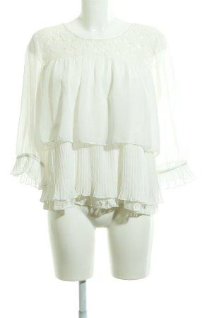 Cream Langarm-Bluse creme Elegant