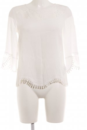 Cream Langarm-Bluse wollweiß Casual-Look