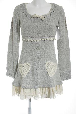 Cream Robe à manches longues gris clair-crème style des années 40