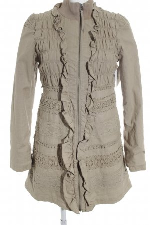 Cream Lange Jacke sandbraun Empire-Look