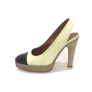 Cream Lanvin High Heel