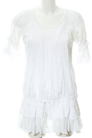 Cream Long-Bluse wollweiß Elegant
