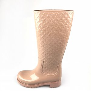 Cream Louis Vuitton Rain & Snow Boot