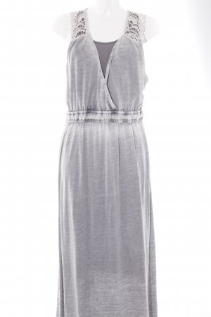 Cream Robe longue bronze-blanc cassé motif batik style décontracté