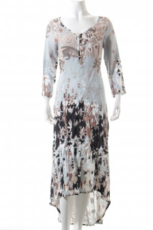Cream Maxikleid Mustermix Boho-Look