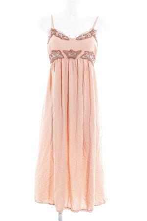 Cream Midikleid apricot Romantik-Look