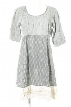 Cream Midikleid graugrün-weiß Punktemuster Casual-Look
