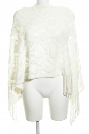 Cream Poncho wit casual uitstraling