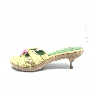 Cream Prada Flip Flop