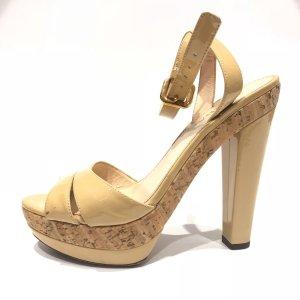 Cream Prada High Heel