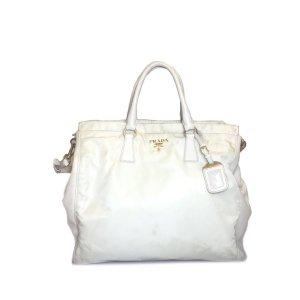 Cream Prada Shoulder Bag