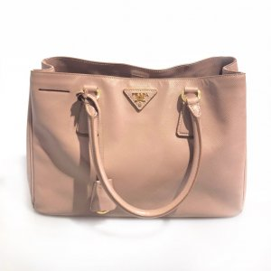 Cream Prada Shoulder Bag