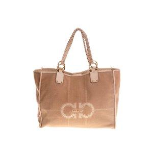 Cream Salvatore Ferragamo Shoulder Bag