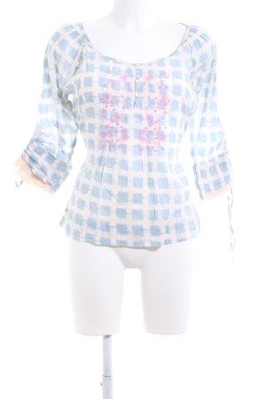 Cream Slip-over blouse volledige print casual uitstraling