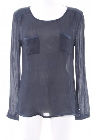 Cream Schlupf-Bluse dunkelblau Casual-Look