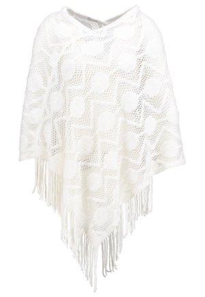 CREAM - Schöner Sommer-Poncho von (Modell 'LOTTI') - weiß