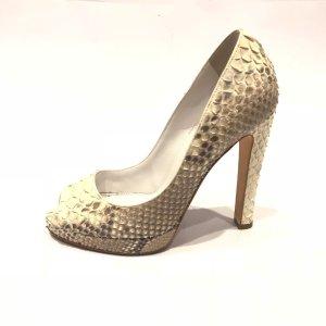 Cream Sergio Rossi High Heel