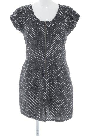 Cream Shirtkleid schwarz-creme Punktemuster Casual-Look
