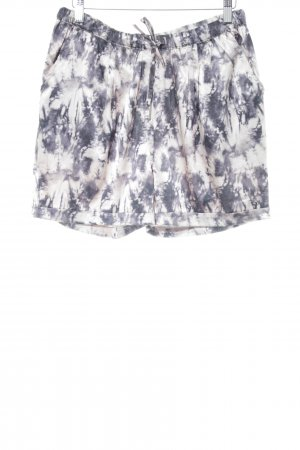 Cream Shorts graublau-blasslila Batikmuster Casual-Look