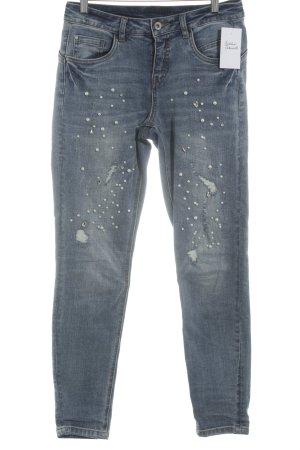 Cream Skinny Jeans blau Used-Optik