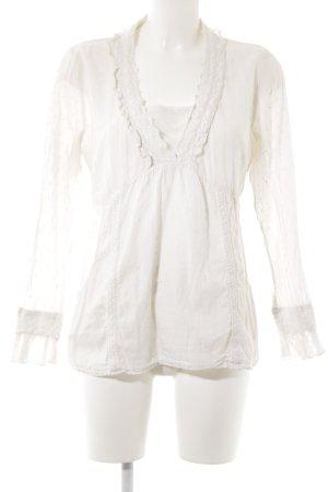 Cream Kanten blouse room nude uitstraling