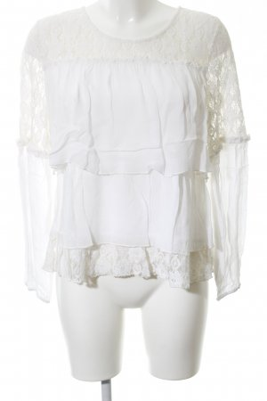 Cream Lace Blouse white elegant