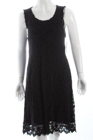 Cream Spitzenkleid schwarz klassischer Stil