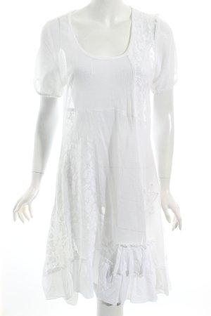 Cream Spitzenkleid weiß Romantik-Look