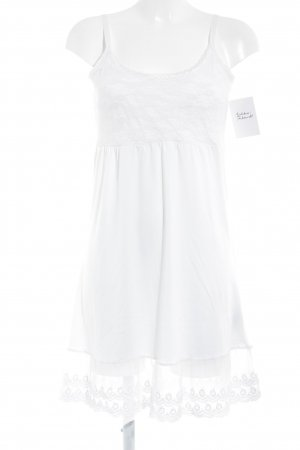 Cream Lace Dress natural white abstract pattern lace look
