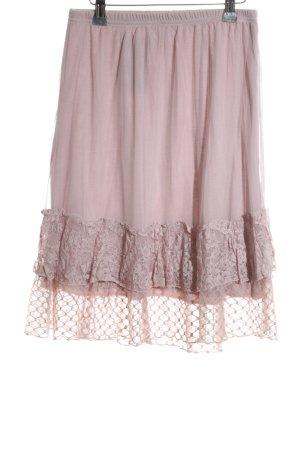 Cream Spitzenrock pink Elegant