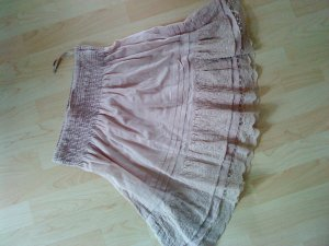 Lace Skirt dusky pink cotton