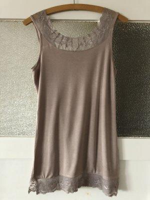 Cream Top di merletto viola-grigio