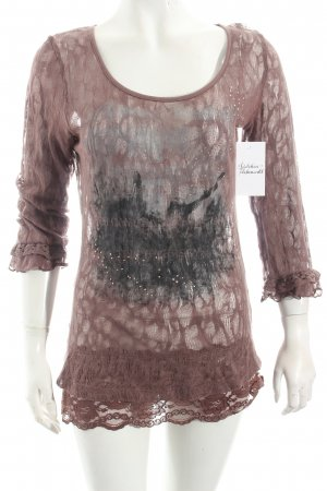 Cream Spitzentop graulila Street-Fashion-Look