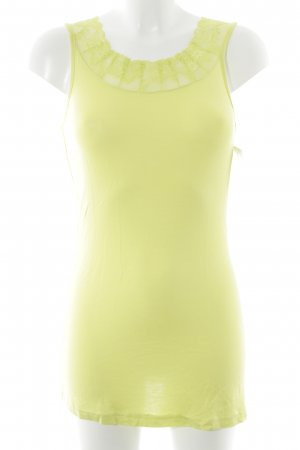 Cream Lace Top lime yellow elegant