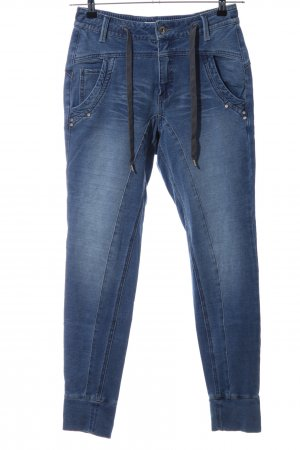 Cream Stretch Jeans blue casual look