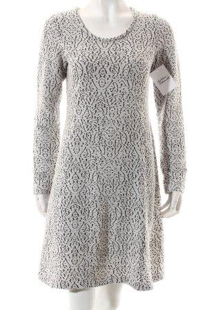 Cream Stretchkleid weiß-schwarz abstraktes Muster Casual-Look