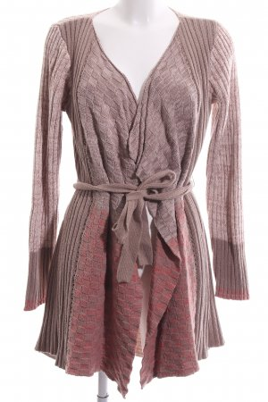 Cream Strick Cardigan braun-pink Farbverlauf Casual-Look
