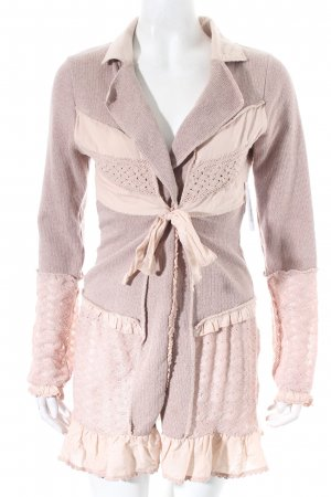 Cream Strick Cardigan altrosa Hippie-Look