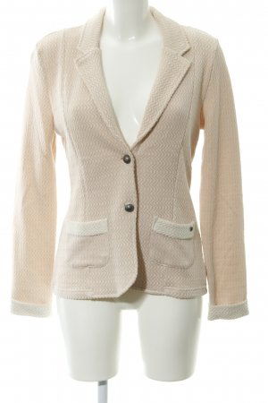 Cream Blazer tejido rosa-blanco puro look casual