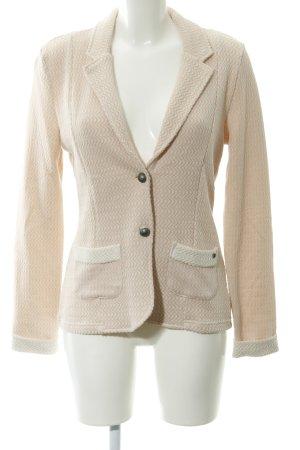 Cream Blazer in maglia rosa pallido-bianco sporco stile casual