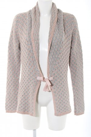 Cream Strickjacke creme-hellgrau Casual-Look