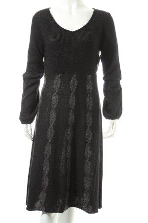 Cream Strickkleid schwarz schlichter Stil