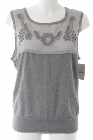 Cream Knitted Top grey-green grey casual look